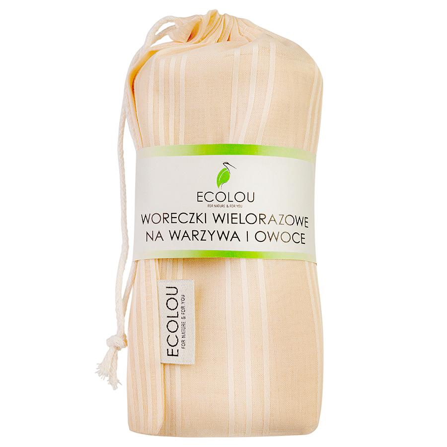 Ekologiczne woreczki na zakupy, warzywa i owoce. Bawełniane polski producent